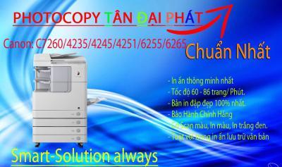 Bán máy photocopy Canon C7260 second hand chính hãng nhập khẩu